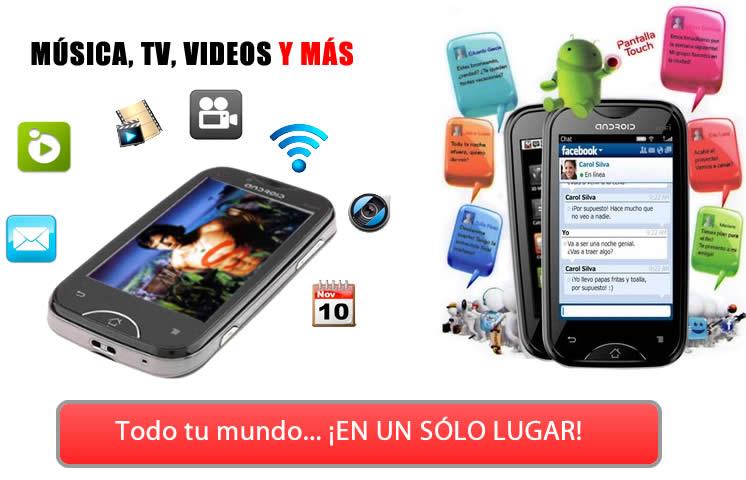 Todo tu mundo en un solo lugar con el Celular Android 2.3 A6000: TV,Wifi, Doble Camara, Gps Mp3 y más